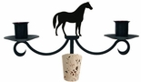 Horse - Wrought Iron Wine Bottle Topper - Candelabra