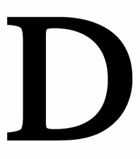 Letter D, 18 Inch, Wrought Iron, Metal