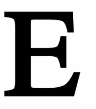 Letter E, 12 Inch, Wrought Iron, Metal