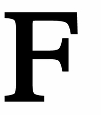 Letter F, 12 Inch, Wrought Iron, Metal