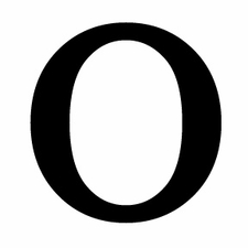 Letter O, 12 Inch, Wrought Iron, Metal