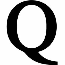 Letter Q, 12 Inch, Wrought Iron, Metal