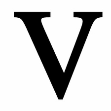 Letter V, 12 Inch, Wrought Iron, Metal