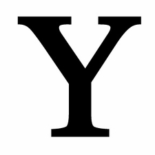 Letter Y, 18 Inch, Wrought Iron, Metal