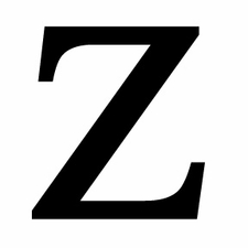Letter Z, 18 Inch, Wrought Iron, Metal
