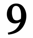 House Number 9, Wrought Iron, Metal, 6 Inch
