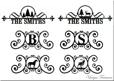 House Plaques Signs Monograms Custom Wrought Iron