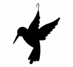 Hummingbird Silhouette, Hanging Art, Wrought Iron