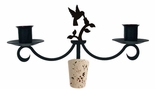 Hummingbird - Wrought Iron Wine Bottle Topper - Candelabra