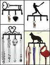 KEY CHAIN HOLDERS, Wrought Iron