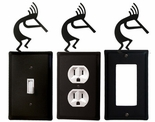 OUTLET, GFI, SWITCH COVERS, KOKOPELLI, WROUGHT IRON