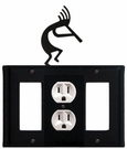 GFI, Outlet and GFI Cover, Kokopelli, Wrought Iron