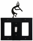 GFI, Switch and GFI Cover, Kokopelli, Wrought Iron