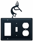GFI, Switch and Outlet Cover, Kokopelli, Wrought Iron