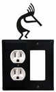 Outlet and GFI Cover, Kokopelli, Wrought Iron