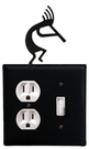 Outlet and Switch Cover, Kokopelli, Wrought Iron