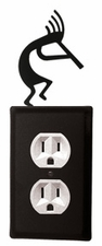 Outlet Cover, Kokopelli, Wrought Iron