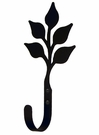 Wall Hook, Leaf, Wrought iron, Large
