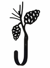 Wall Hook, Pine Cones, Wrought iron, Large