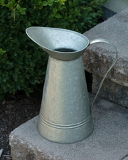Large Tin Pitcher, Natural Color
