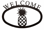 Welcome Sign, House Plaque, Pineapple, Wrought Iron, Large