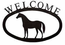 Welcome Sign, Horse, Wrought Iron, Large