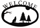 Welcome Sign, House Plaque, Timberwolf, Wrought Iron, Large