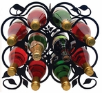 Wine Rack, Tabletop, 10 Bottle, Wrought Iron