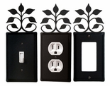 OUTLET, GFI, SWITCH COVERS, LEAF FAN, WROUGHT IRON