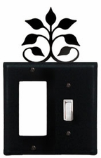 GFI and Switch Cover, Leaf Fan, Wrought Iron