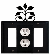 GFI, Outlet and GFI Cover, Leaf Fan, Wrought Iron