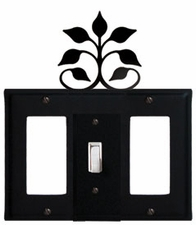 GFI, Switch and GFI Cover, Leaf Fan, Wrought Iron