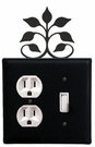 Outlet and Switch Cover, Leaf Fan, Wrought Iron