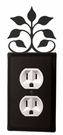Outlet Cover, Leaf Fan, Wrought Iron