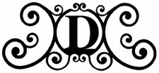 Monogram Wall Plaque, Letter D, Wrought Iron