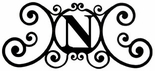 Monogram Wall Art, Letter N, Wrought Iron