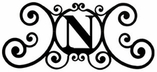 Monogram Wall Plaque, Letter N, Wrought Iron