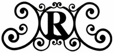 Monogram Wall Art, Letter R, Wrought Iron