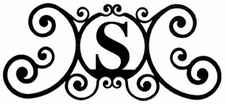 Monogram Wall Plaque, Letter S, Wrought Iron