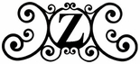 Monogram Wall Art, Letter Z, Wrought Iron