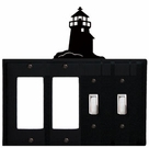 Double GFI & Double Switch Cover, Lighthouse, Wrought Iron