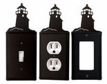 OUTLET, GFI, SWITCH COVERS, LIGHTHOUSE, WROUGHT IRON