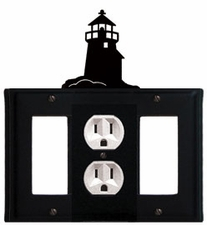 GFI, Outlet and GFI Cover, Lighthouse, Wrought Iron