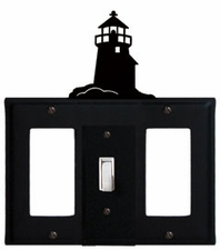 GFI, Switch and GFI Cover, Lighthouse, Wrought Iron