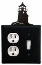 Outlet and Switch Cover, Lighthouse, Wrought Iron