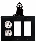 Outlet and Double GFI Cover, Lighthouse, Wrought Iron