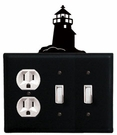 Outlet and Double Switch Cover, Lighthouse, Wrought Iron