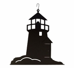 Lighthouse Silhouette, Hanging Art, Wrought Iron