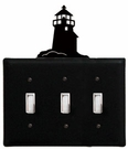 Triple Switch Cover, Lighthouse, Wrought Iron