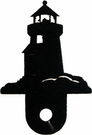 Silhouette for Cabinet Door, Lighthouse, Black Wrought Iron
